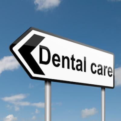 Dental Care Street Sign